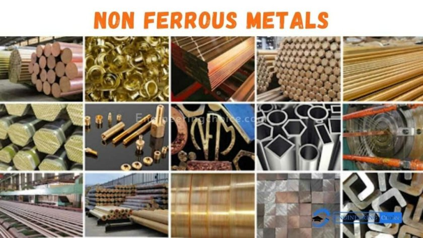 Non-ferrous metals include aluminum, copper, lead, nickel, tin, titanium and zinc, as well as copper alloys like brass and bronze.