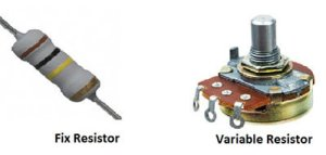 Fix resistor and variable resistor
