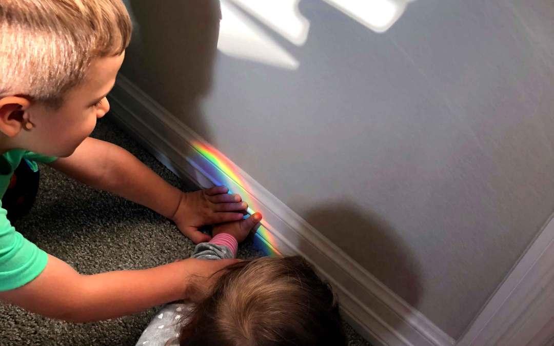 Summer Fun for Kids: 4 simple indoor & outdoor Rainbow STEM experiments