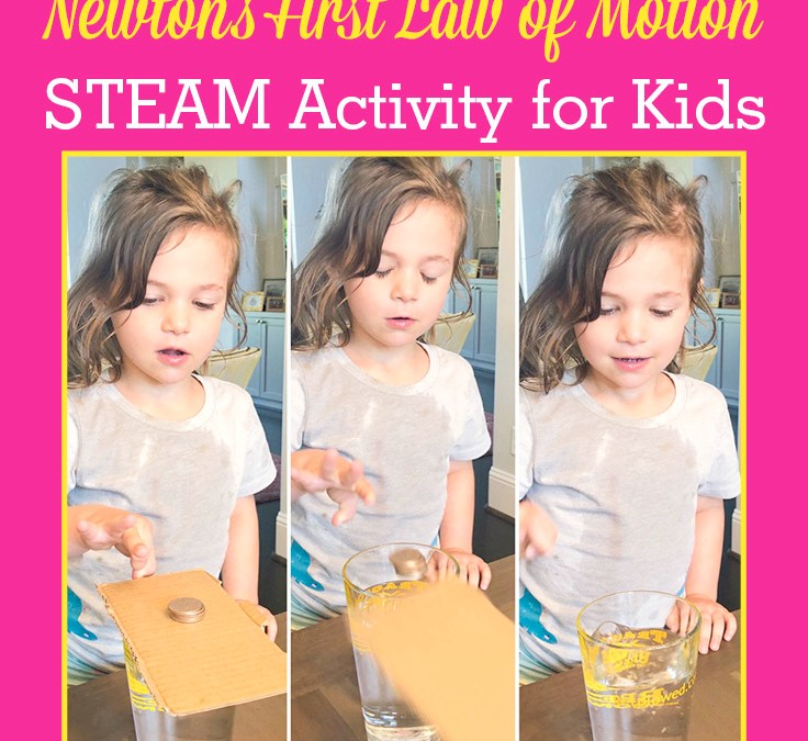 Easy Coin Trick to Learn about Inertia and Newton's First Law of Motion   STEAM Activity for Kids