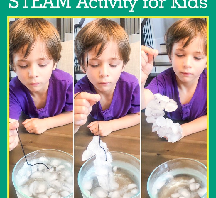 Fishing for Ice Cubes | STEAM Activity for Kids