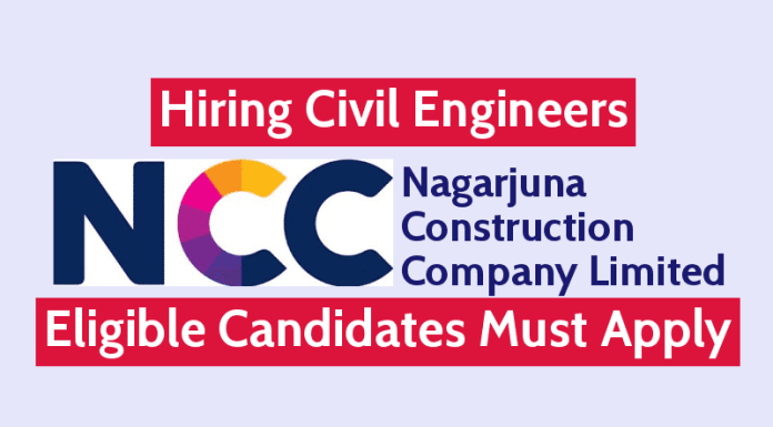 Nagarjuna Construction Hiring Civil Engineers Eligible Candidates Must Apply