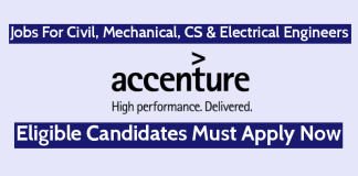 Accenture Recruitment For Civil, Mechanical, CS & Electrical Engineers Must Apply Now