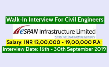 ESPAN Infrastructure (I) Ltd Walk-In