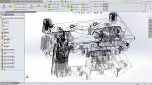 STL-Ausgabe in SolidWorks - das System zeigt die Dreiecke, aus denen das Modell in STL besteht.