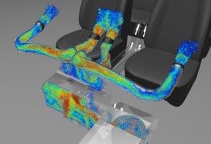 Exa Find ermöglicht es, die Quelle von Strömungsgeräuschen schon am virtuellen Prototypen zu ergründen (Bild: Exa).