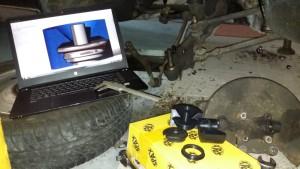 Das ZBook Studio durfte schon mit in meine Werkstatt, dort konnte ich bei Modellieren direkt Maße abgreifen.