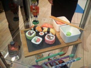 Hunger? Bei Stratasys gab es - nicht essbares - Sushi zu bewundern.