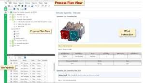 Aras Manufacturing Process Planning (MPP) synchronisiert Arbeitspläne, MBOM und Prozesspläne (Alle Bilder: Aras).