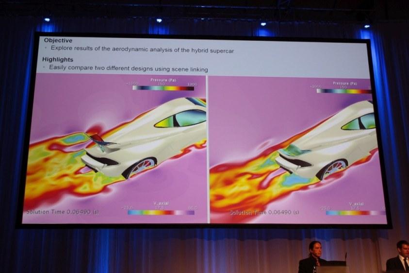 Scene Linking vereinacht den Vergleich von Ergebnissen, Raytracing verbessert die Darstellung des 3D-Modells.