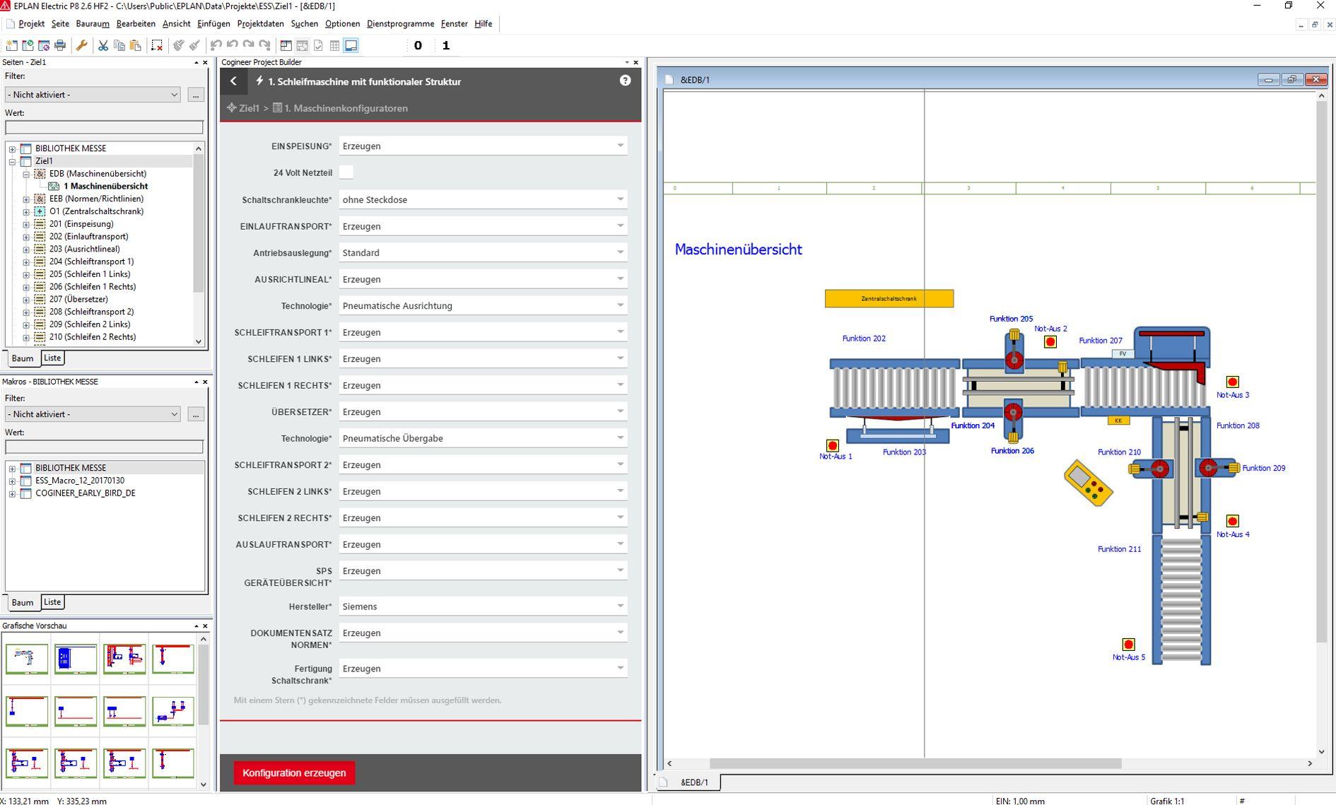 Eplan Cogineer: Konfiguration für den Schaltplan