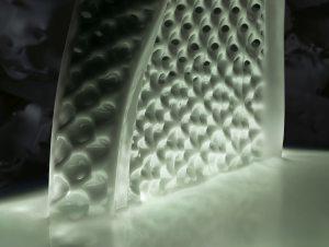 Die Sohlen des Futurecraft 4D werden in 20 Minuten in einem CLIP-Drucker von Carbon gefertigt.