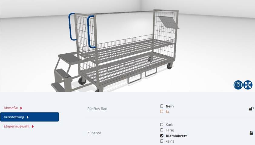 Konfiguration mit Lino 3D web