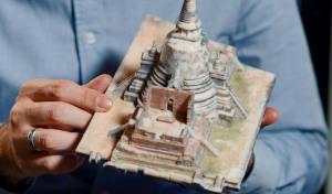 Modell des Ayutthaya-Tempels in Thailand aus de Stratasys J750