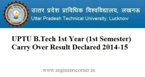 UPTU 1st year carry Over Result 2015