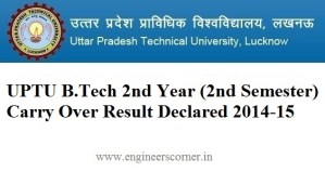 UPTU 2nd year carry over result