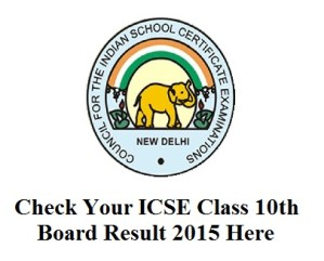 ICSE Class 10th Result 2015