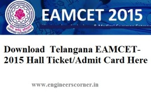 Download EAMCET-2015 Hall Ticket