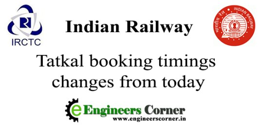 IRCTC tatkal ticket timing