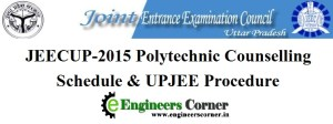 JEECUP 2015 Polytechnic Counselling Procedure and Schedule