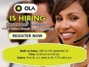 Ola Cabs Jobs