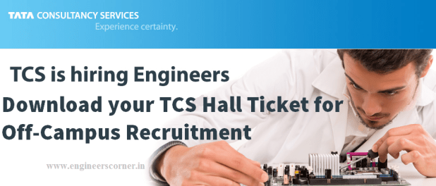 TCS next step hall ticket job