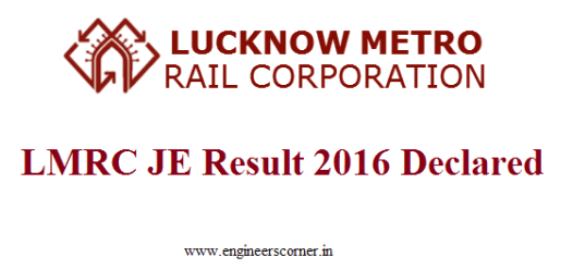 Download Check LMRC JE Result 2016