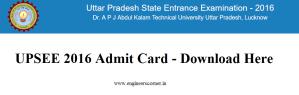 Download UPSEE Admit Card 2016