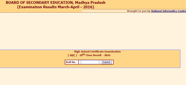 MP Board Result Class 10th HSC Result 2016