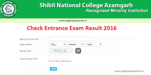 Shibli National College Azamgarh Result