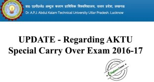 AKTU Official Update on SCOP 2016-17