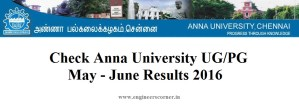 Anna University UG - PG Results at coe1.annauniv.edu