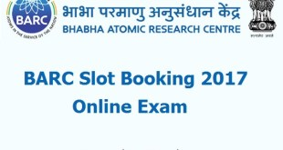 BARC Slot Booking 2017
