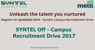 Syntel Recruitment Drive 2017