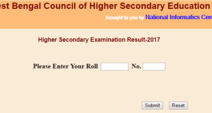 West Bengal WBBSE HSC Class 12 Results 2017