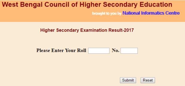 West Bengal WBBSE HSC Class 12 Results 2017