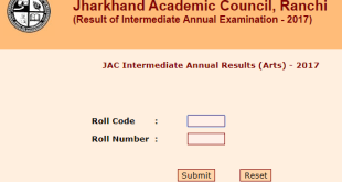 JAC Intermediate Annual Results (Arts) - 2017