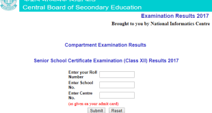 CBSE Compartment Result 2017-2018