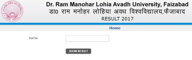 Dr. Ram Manohar Lohia Avadh University Result