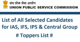 UPSC Toppers List