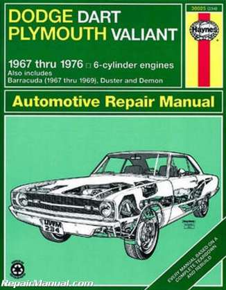 haynes-dodge-plymouth-dart-demon-valiant-duster-barracuda-1967-1976-repair-manual