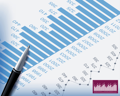 Business backgrounds graphs and stationary pen