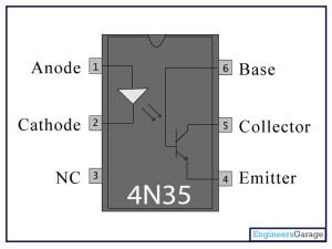 4N35 Optcoupler | 4N35 Datasheet  EngineersGarage