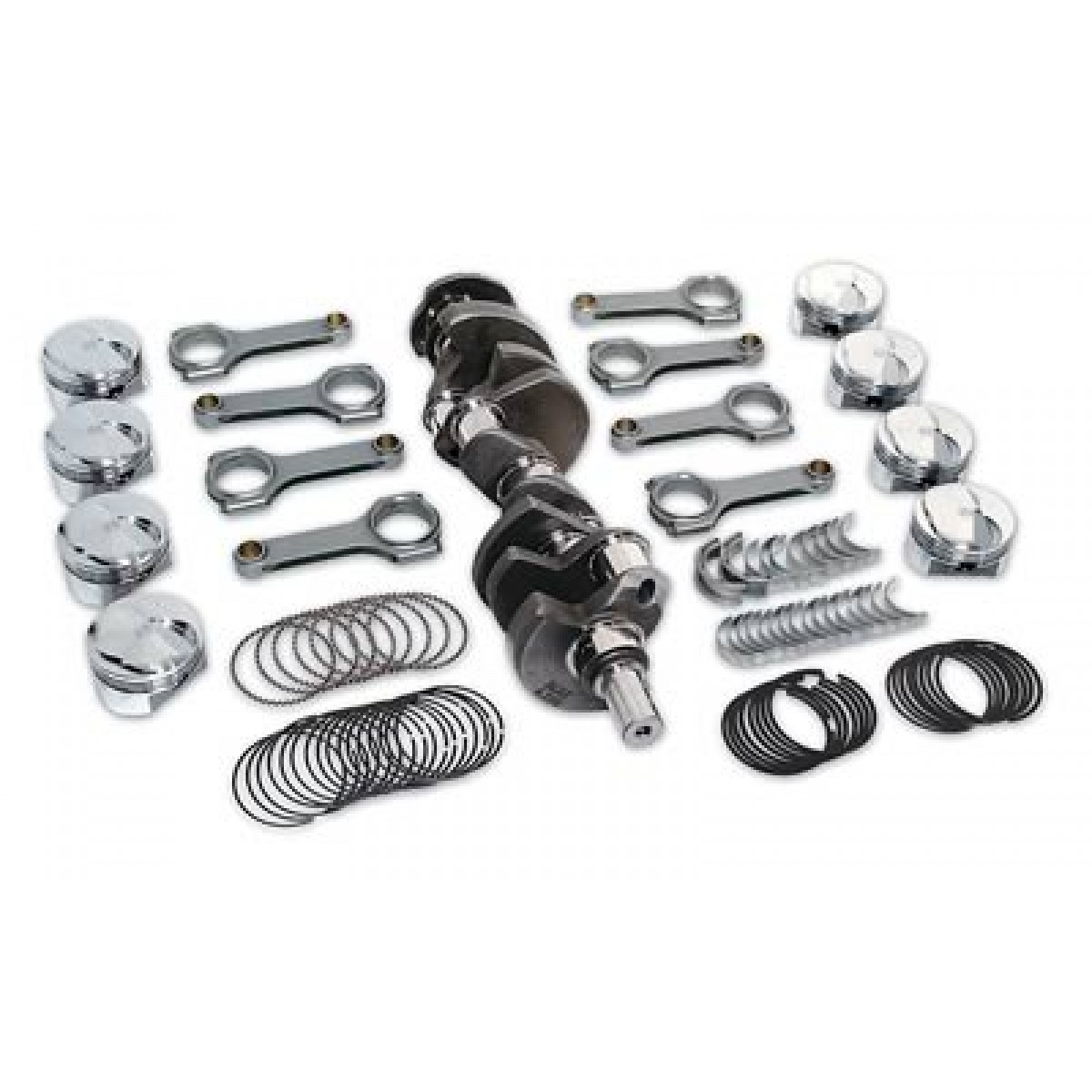 Ford 390fe To 431 Scat Stroker Kit Flat Top Balanced 1 Bi