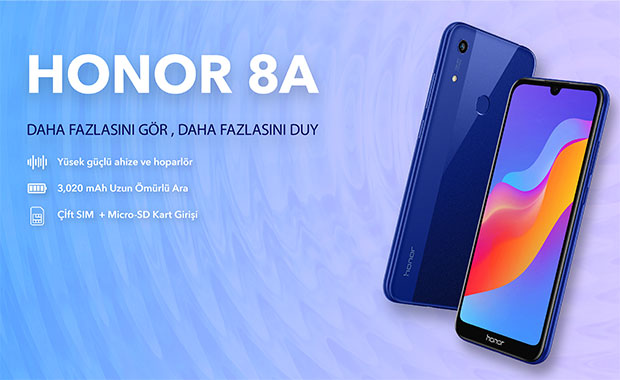 Yeni Honor 8A Türkiye'de satışa çıkıyor