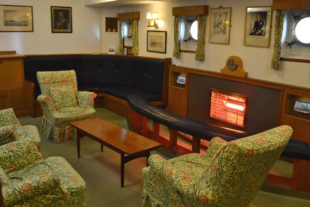 Royal Yacht Britannia kleines Wohnzimmer
