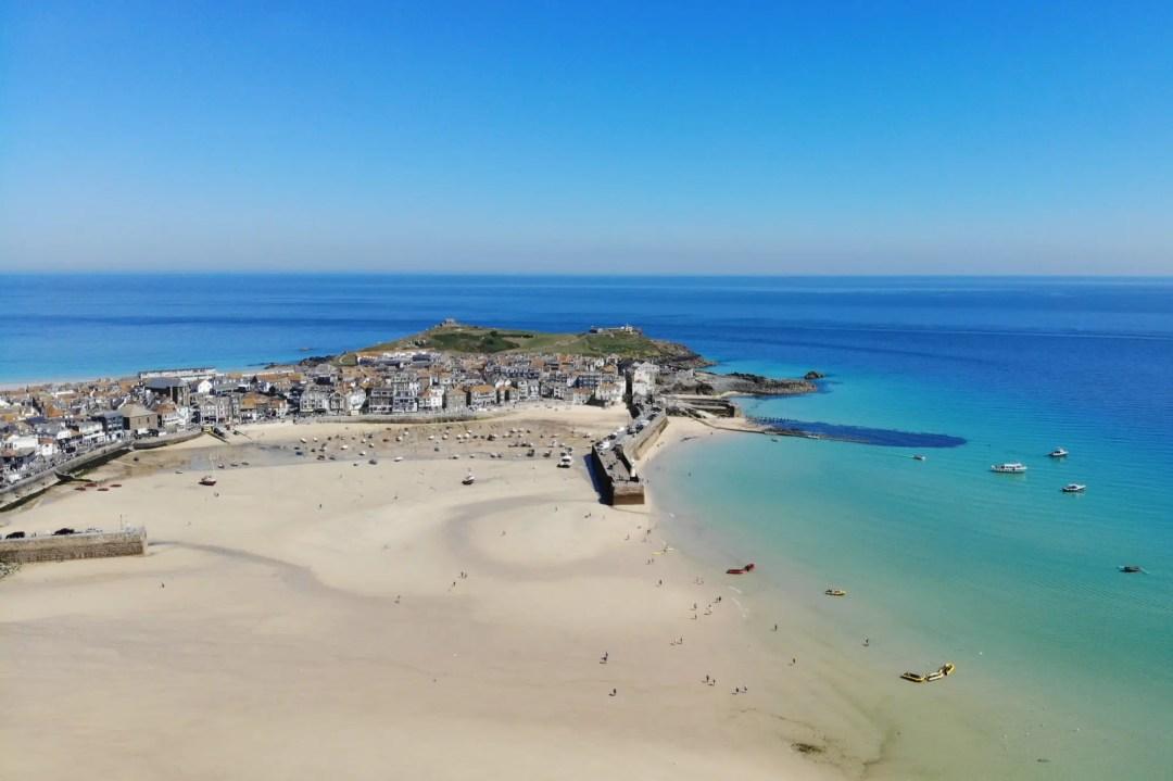 Einer der schönsten Strände in Cornwall: Porthminster Beach