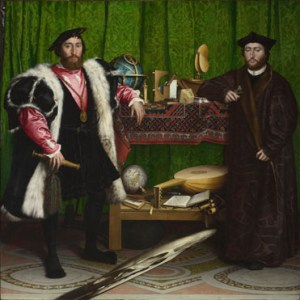 Holbein's The Ambassador showing the way wealthy men would dress