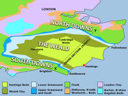 Map of the Weald
