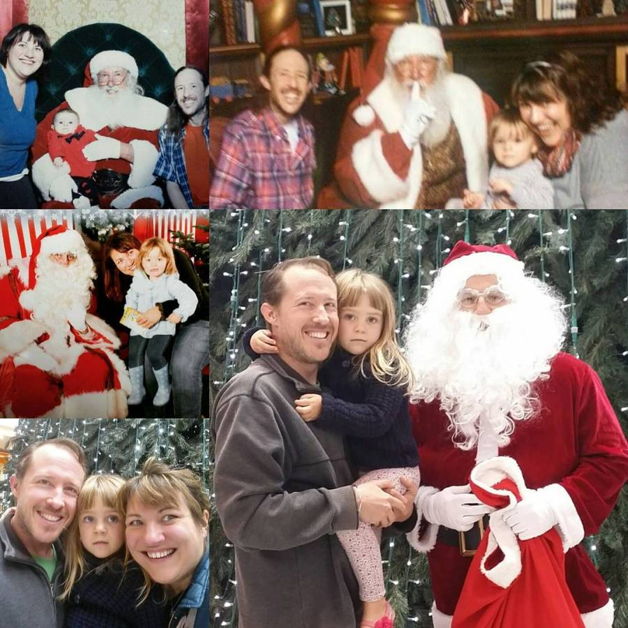 I just had to put this collage together Four Santahellip
